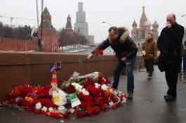 Boris Nemtsov and Kremlinb wall