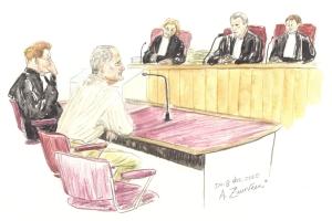 Scan Rechtbanktekening Annet Zuurveen. Moord op Maja van Vlooten. verdachte K.R. van O.