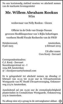 Willem Abraham Rookus 9 febr 2015 50356831