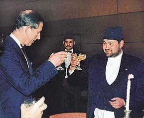 FILE PHOTO OF NEPAL'S CROWN PRINCE DIPENDRA AND BRITAIN'S PRINCE CHARLES