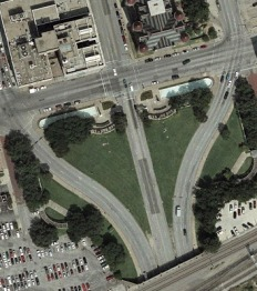 Dealey Plaza Satellite Map