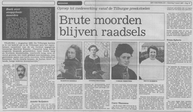 moorden Tilburg