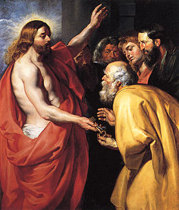 260px-Rubens_B116 Jezus schenkt Petrus de sleutels