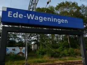 Station Ede-Wageningen - Foto Stationsbord