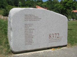 Srebrenica Genocide Memorial in Potocari 8372 Victims
