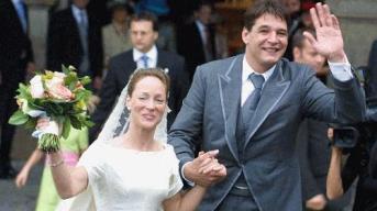 Prinses-Margarita-en-Edwin-de-Roy-van-Zuydewijn-in-beter-tijden-op-hun-huwelijksdag-in-2001-in-het-Franse-Auch